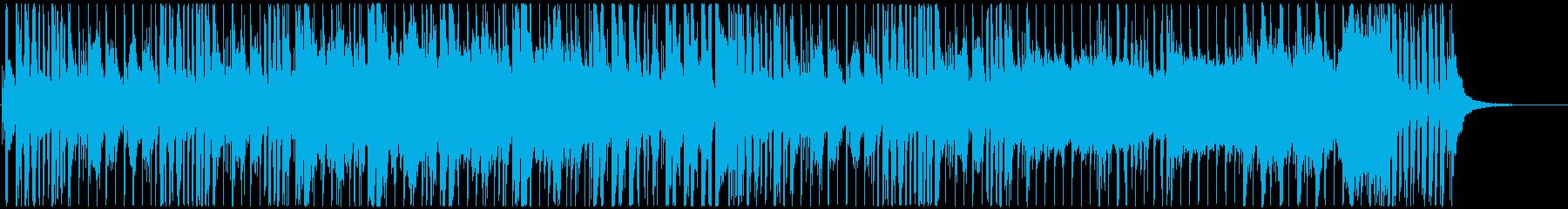 ポップでわくわくするレース曲の再生済みの波形