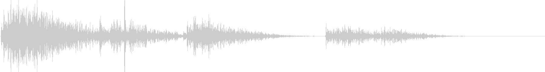 【生録音】プラスチックの容器が転がる 5の未再生の波形