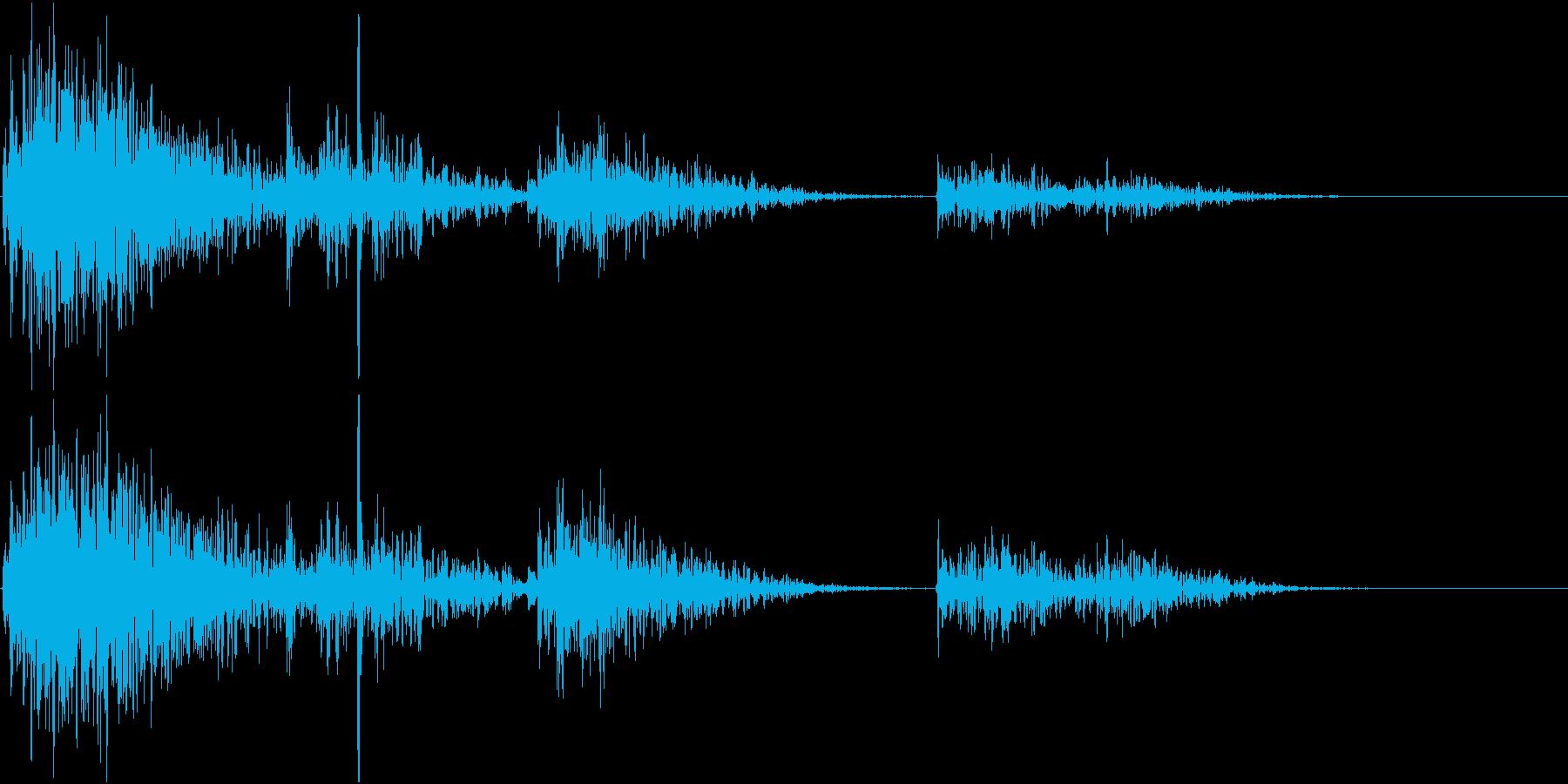 【生録音】プラスチックの容器が転がる 5の再生済みの波形