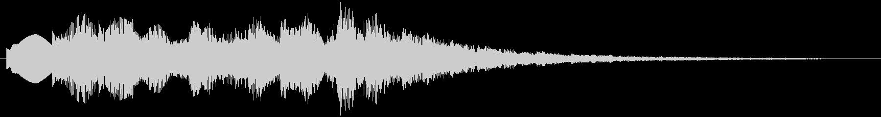 ポップで綺麗な音 優しい音 サウンドロゴの未再生の波形