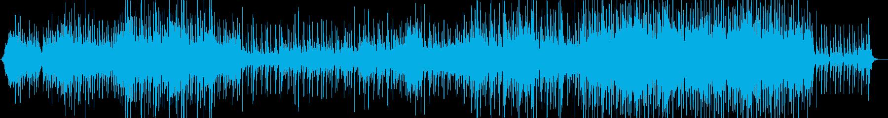 凛としたイメージの和風BGMの再生済みの波形