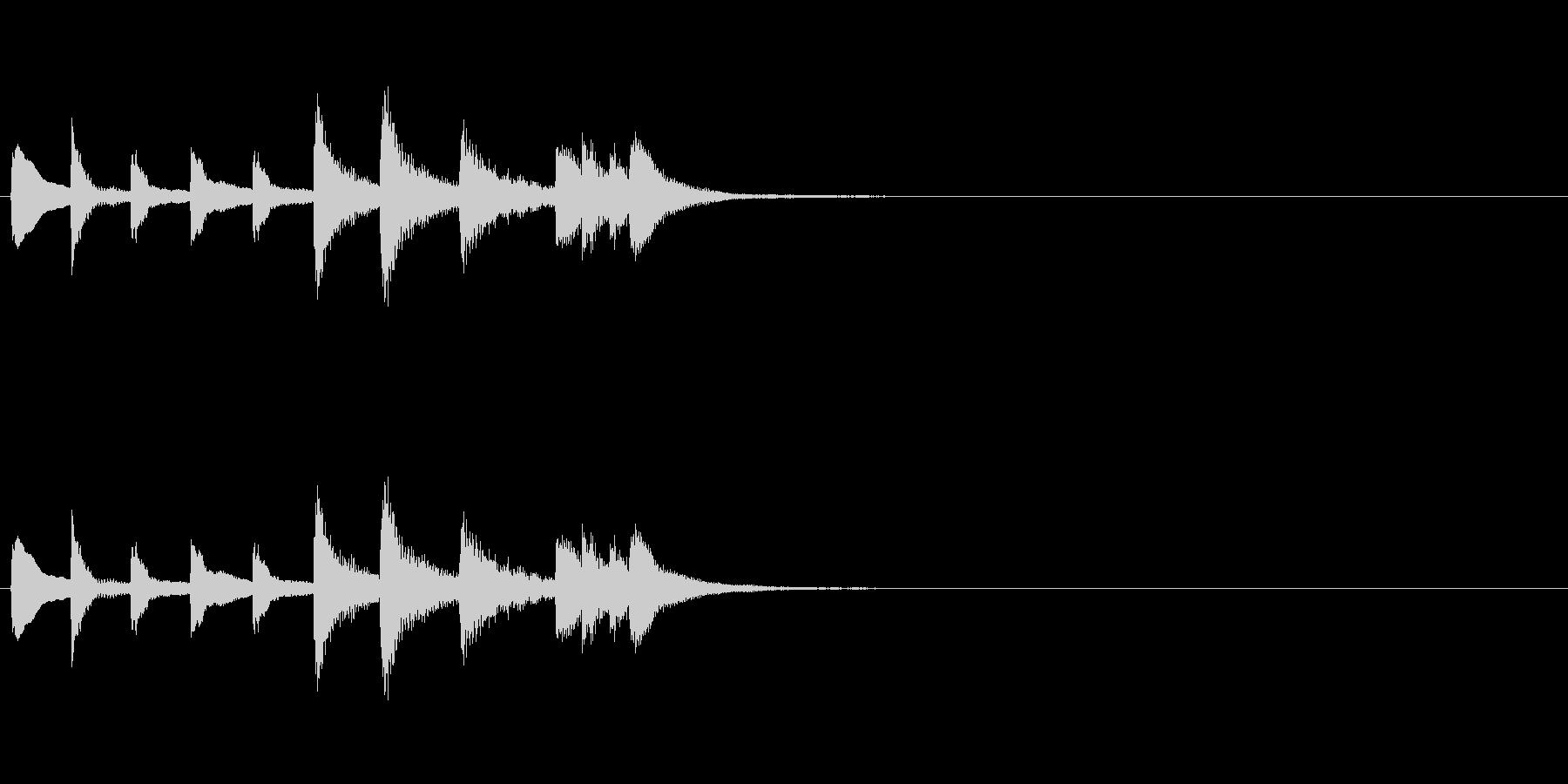 和風効果音 琴2(拍子木なし)の未再生の波形