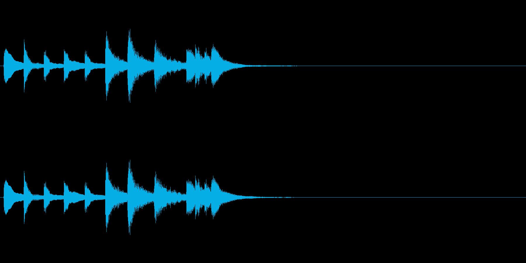 和風効果音 琴2(拍子木なし)の再生済みの波形
