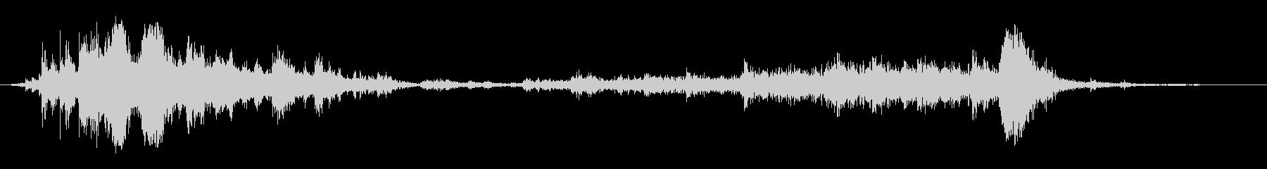 【生録音】ガラガラガラーガシャン(近め)の未再生の波形