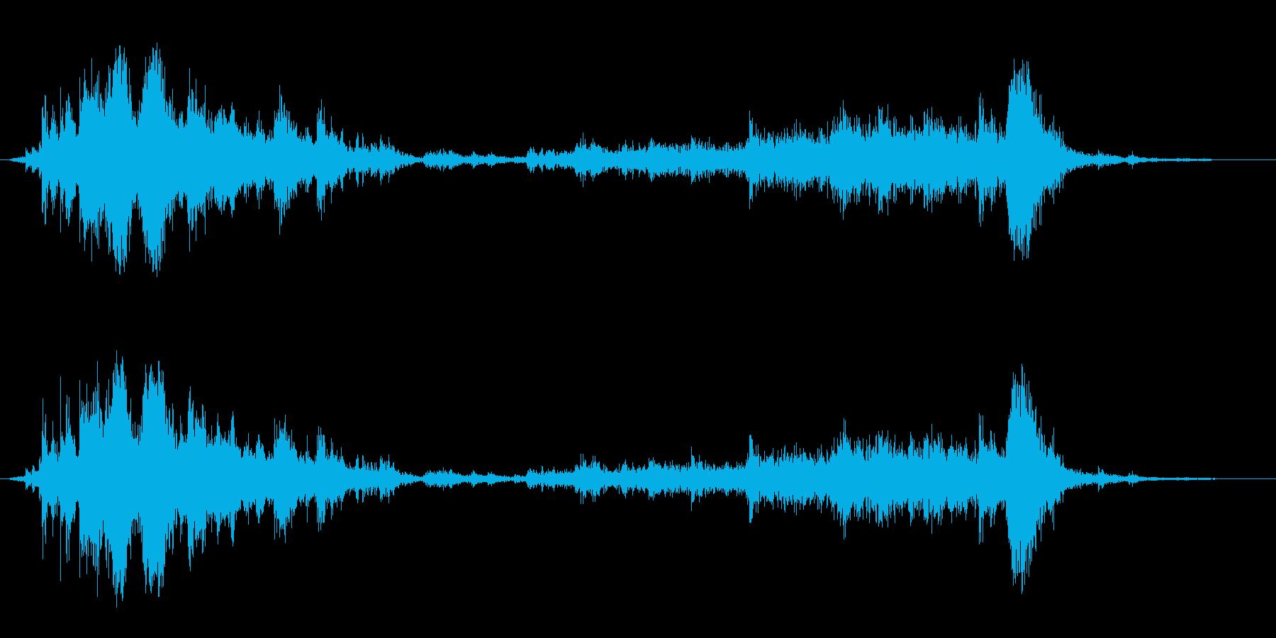 【生録音】ガラガラガラーガシャン(近め)の再生済みの波形