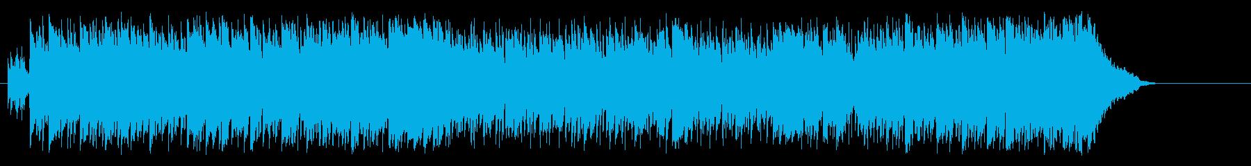 タウン情報向けの軽快なポップ/BGの再生済みの波形