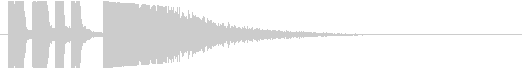 SE - おもしろ登場音の未再生の波形