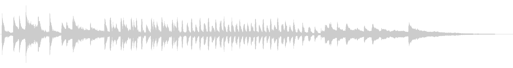 コミカルなギャグ、愉快軽やかなピアノソロの未再生の波形
