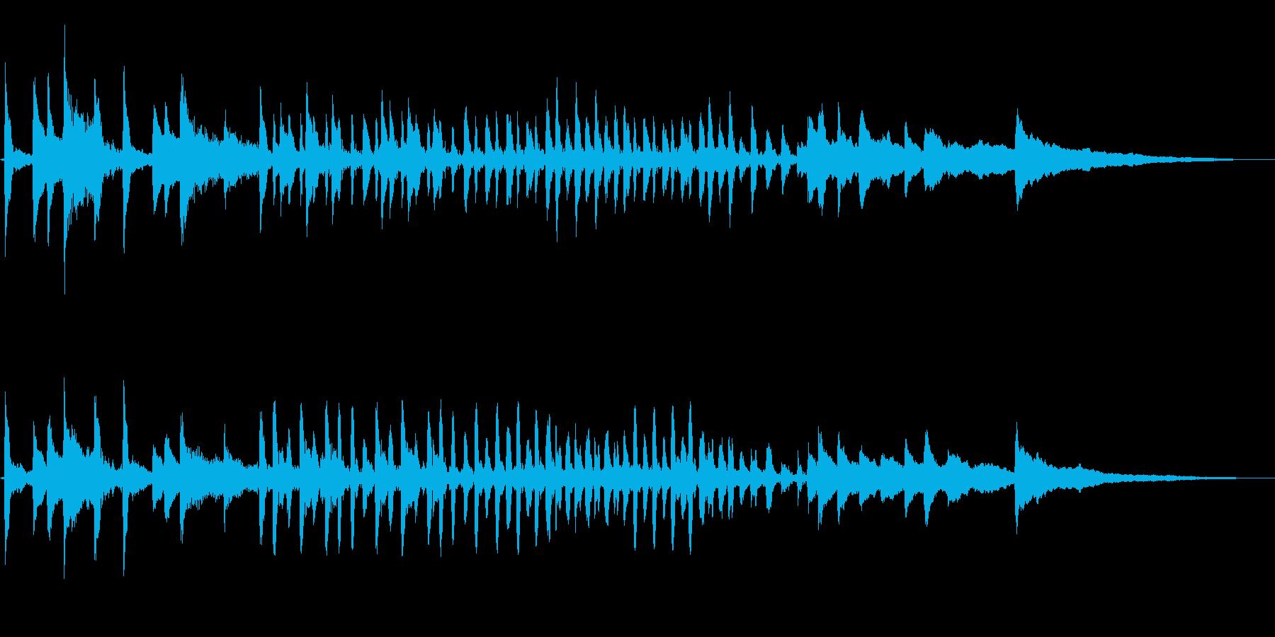 コミカルなギャグ、愉快軽やかなピアノソロの再生済みの波形