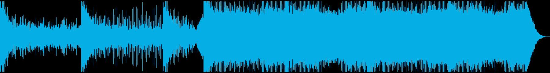 鼓動高まる緊張を表す電子サウンドの再生済みの波形