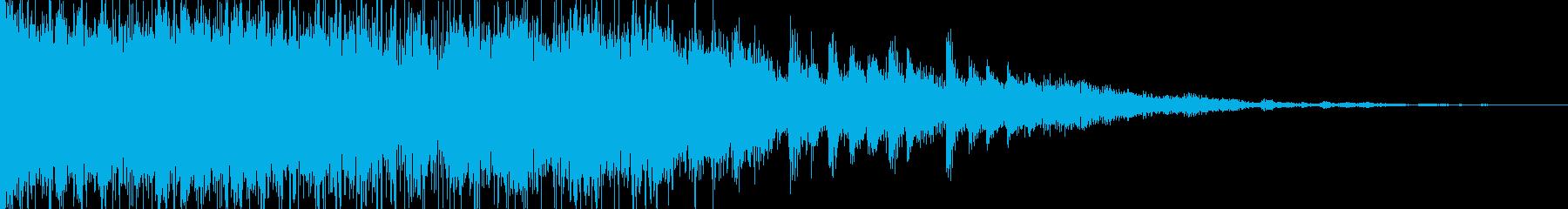 はじけるようなエレクトリカルジングルの再生済みの波形