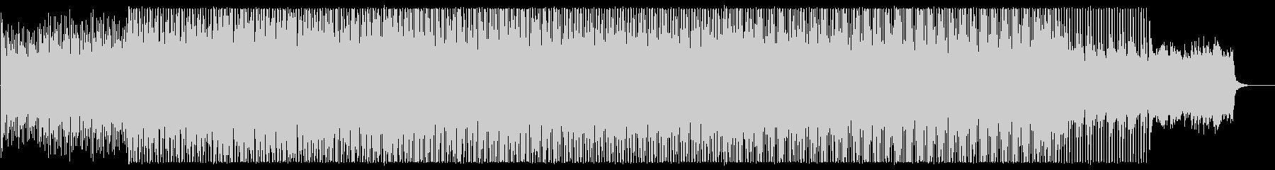 穏やかなミディアムテンポのテクノポップの未再生の波形