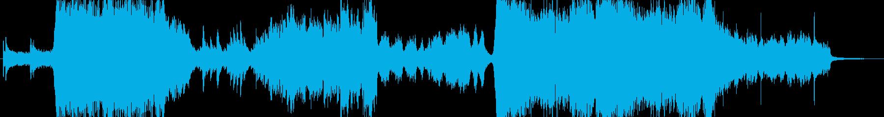 映画のメインテーマのようなオーケストラ曲の再生済みの波形