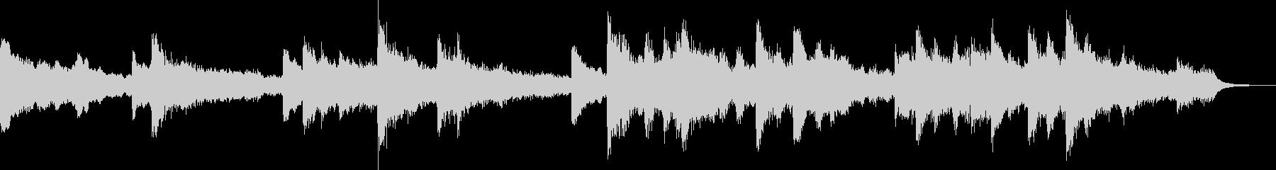 暗く切ない雰囲気のピアノジングルの未再生の波形