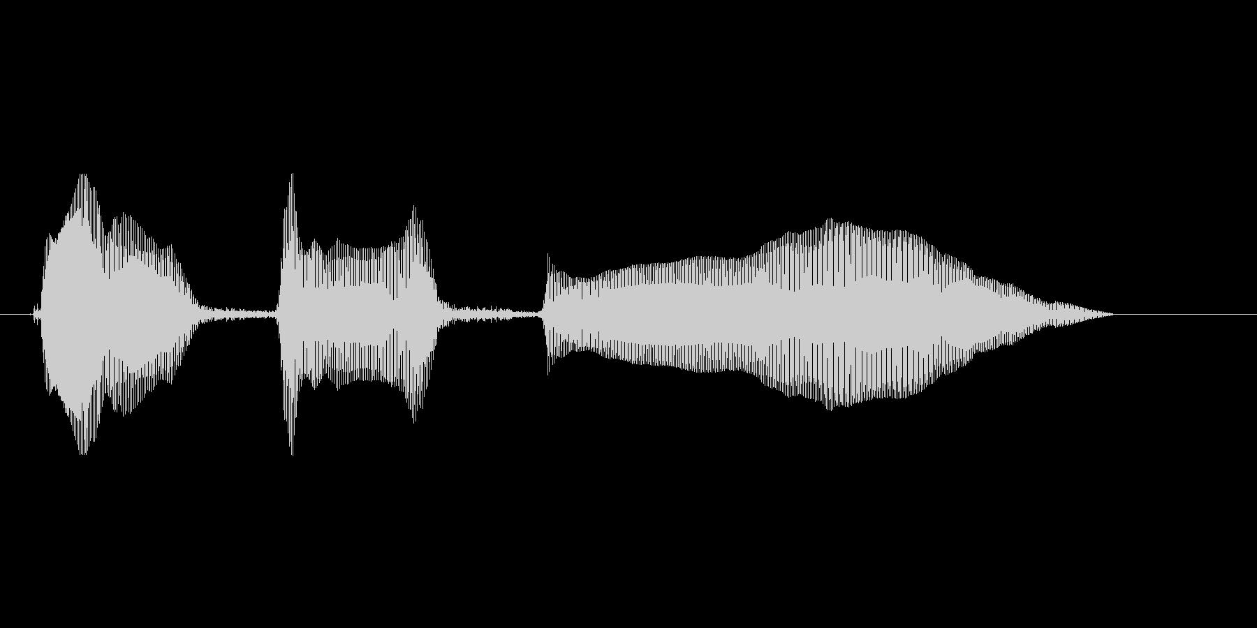 とほほ…(女)の未再生の波形