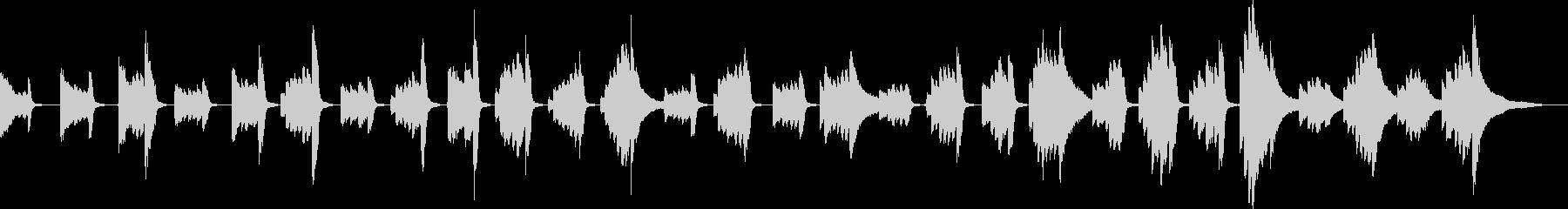 潜入のBGM(ピアノ)の未再生の波形