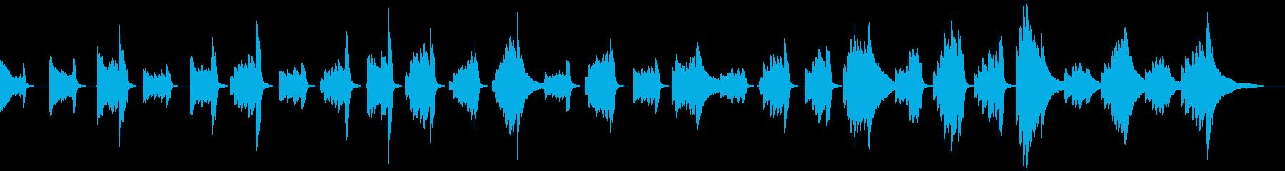 潜入のBGM(ピアノ)の再生済みの波形