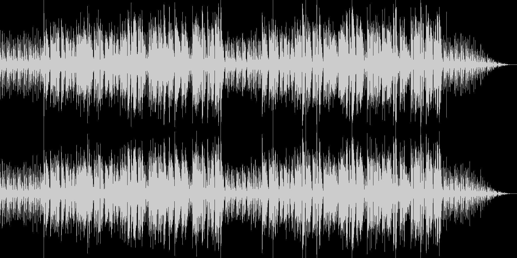 ピアノバラードの切ないラブソングの未再生の波形
