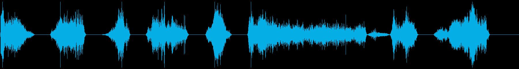 Monster Growls 11-17の再生済みの波形