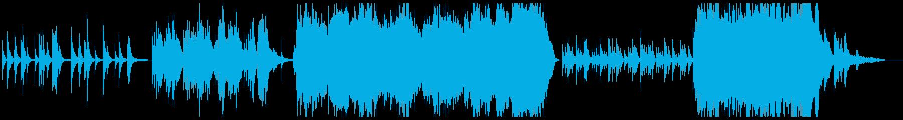 弦四重奏とピアノの感動系曲の再生済みの波形