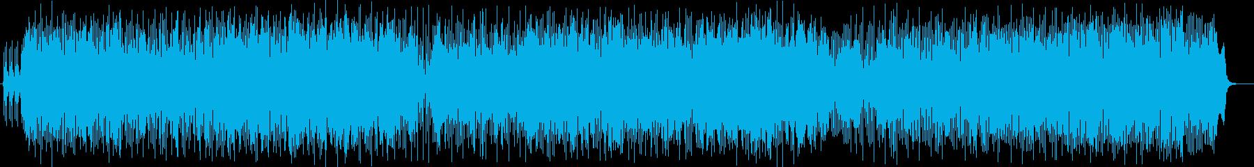 躍動感がある吹奏楽とシンセのポップな曲の再生済みの波形