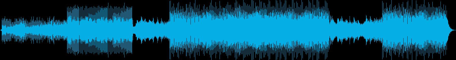 おしゃれでかわいいテクノポップBGMの再生済みの波形