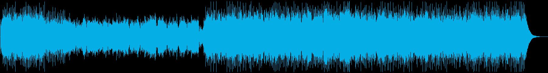 生バイオリン・アコギ・ピアノの綺麗な曲の再生済みの波形