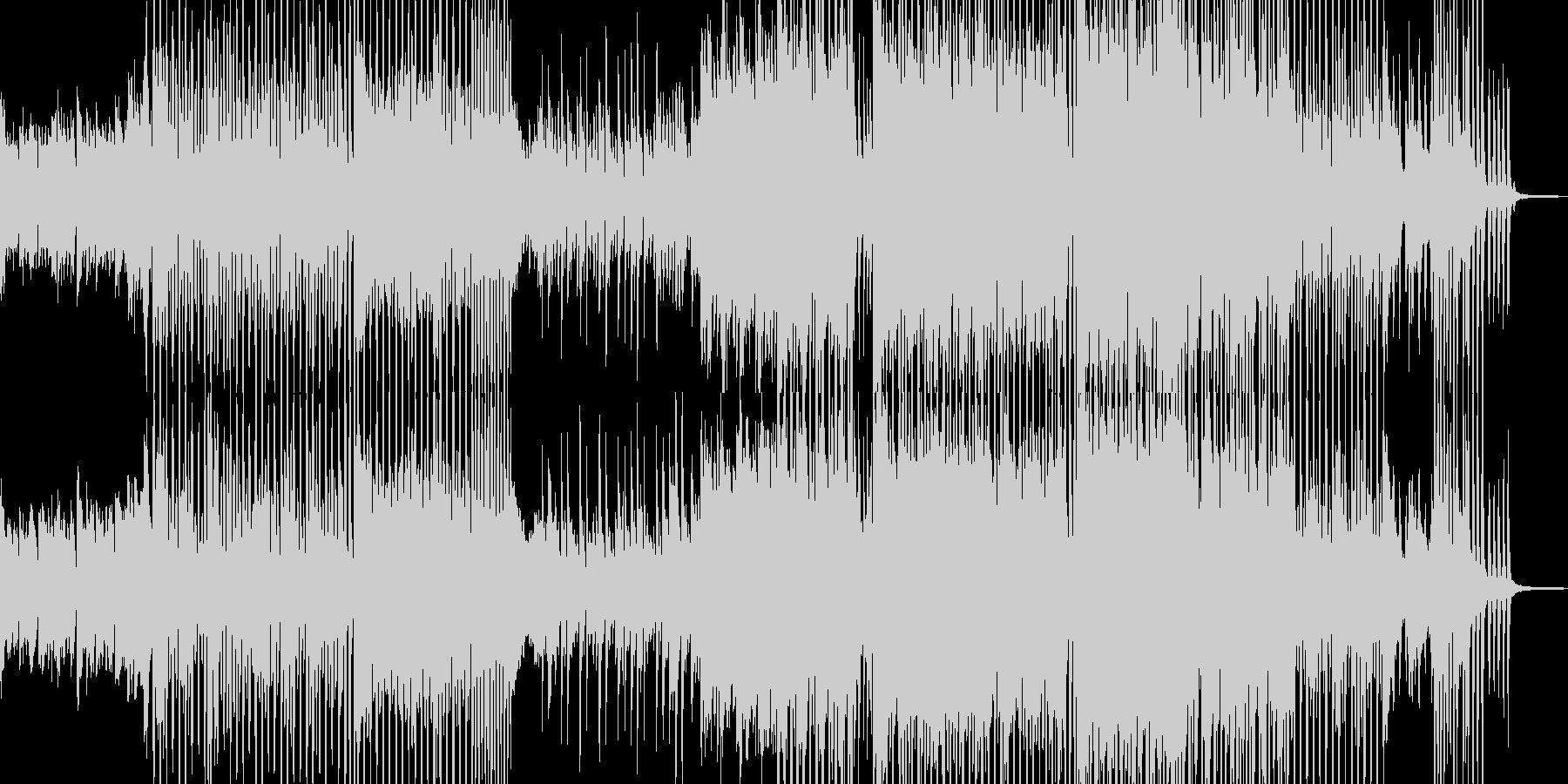 前向きに歩き出すテクノポップ 短尺の未再生の波形