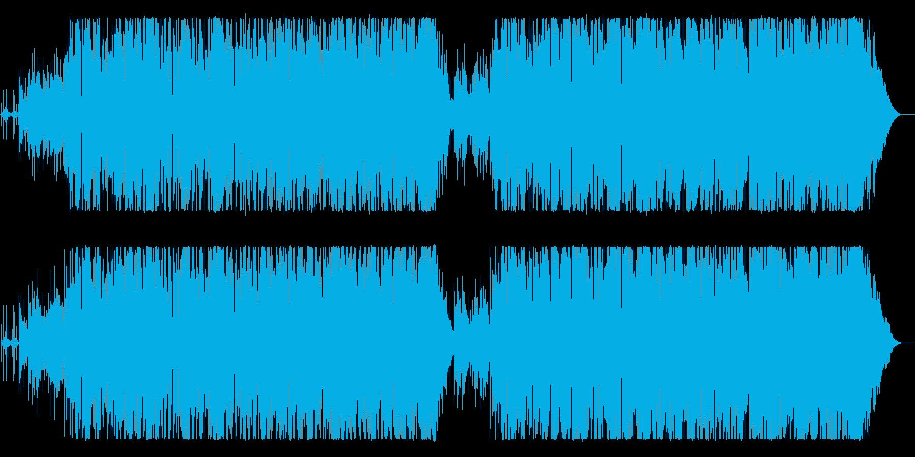 ロマンティックで大人な雰囲気のBGMの再生済みの波形