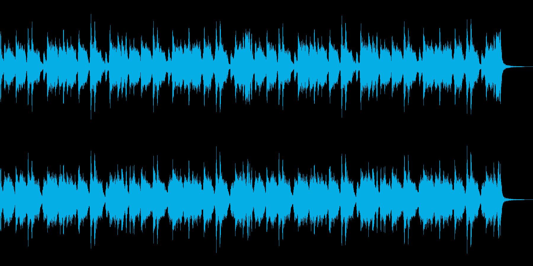 ロック系ギターリフの再生済みの波形