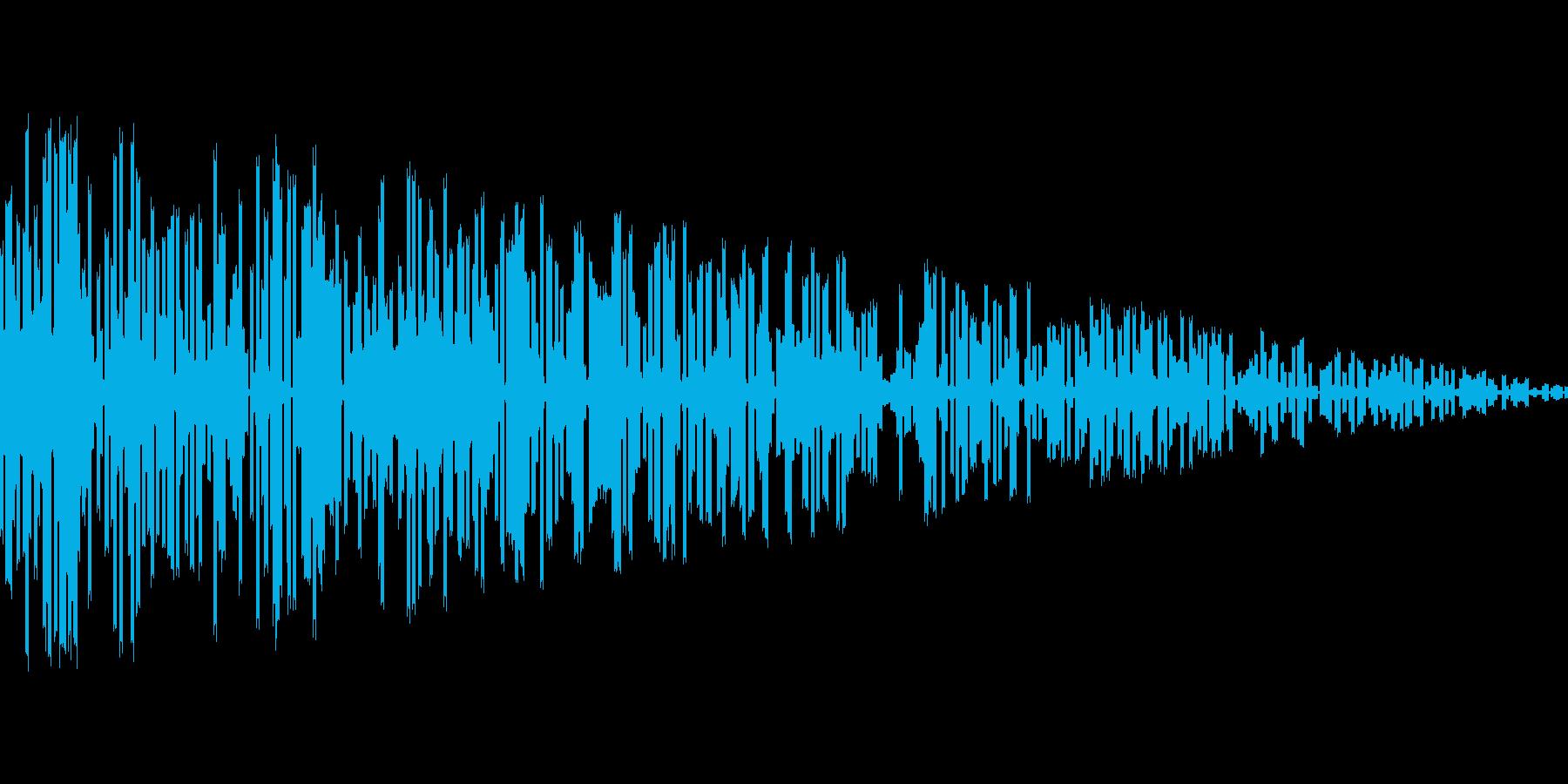 爆発_ぼーんの再生済みの波形
