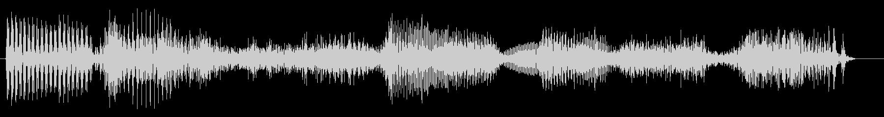 「いらっしゃいませ」2の未再生の波形