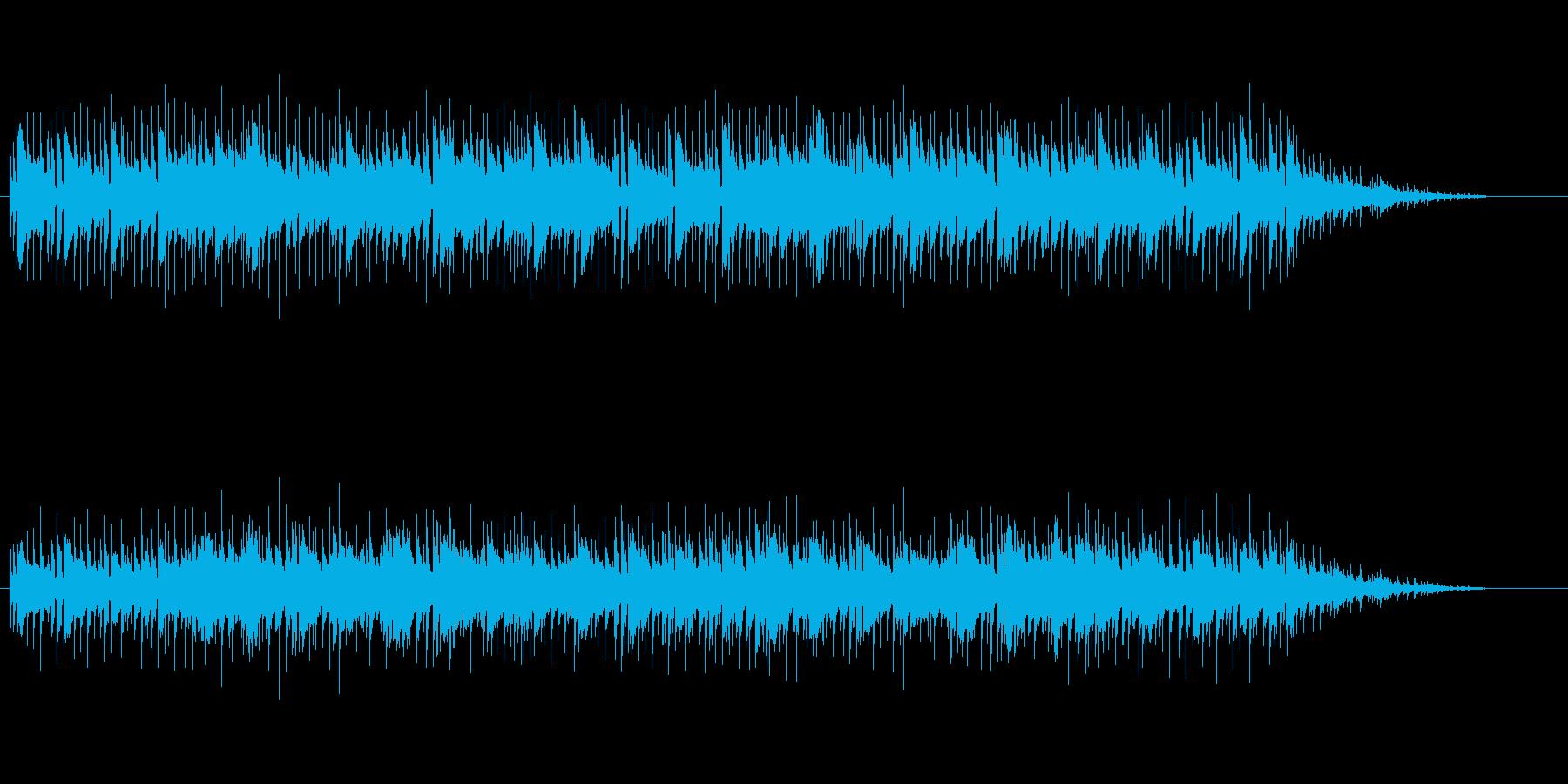 透明感のあるキラキラした曲の再生済みの波形