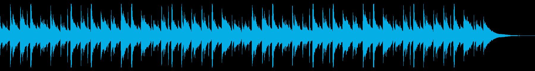 癒し系のアコースティックヒーリング音楽の再生済みの波形