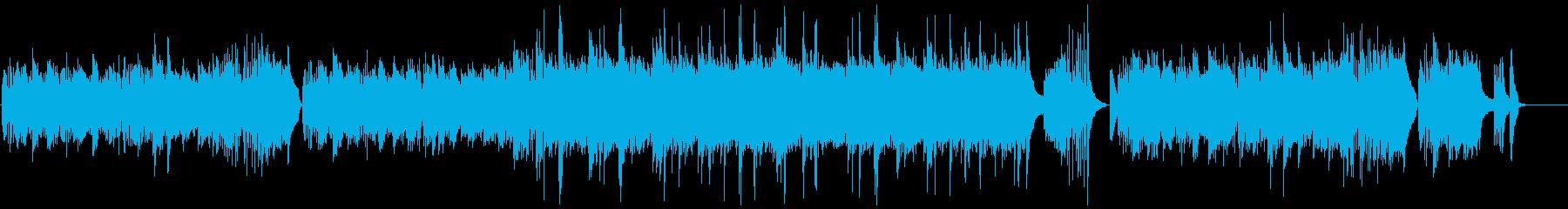 キラキラ、コロコロ流れるようなピアノの再生済みの波形