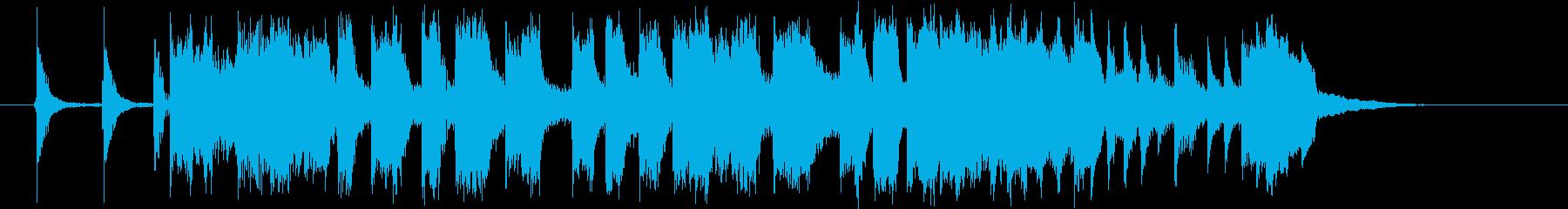 通販番組のオープニング風の再生済みの波形