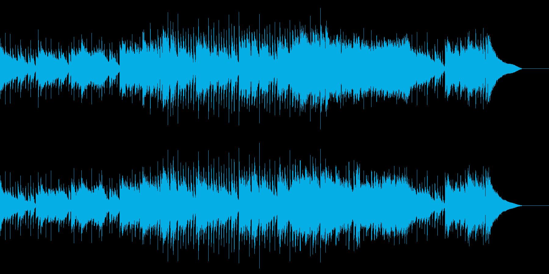 ほのぼのとしたCM映像用ジャズの再生済みの波形