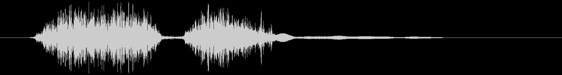 マジックペン (書く)短い線、チェック等の未再生の波形