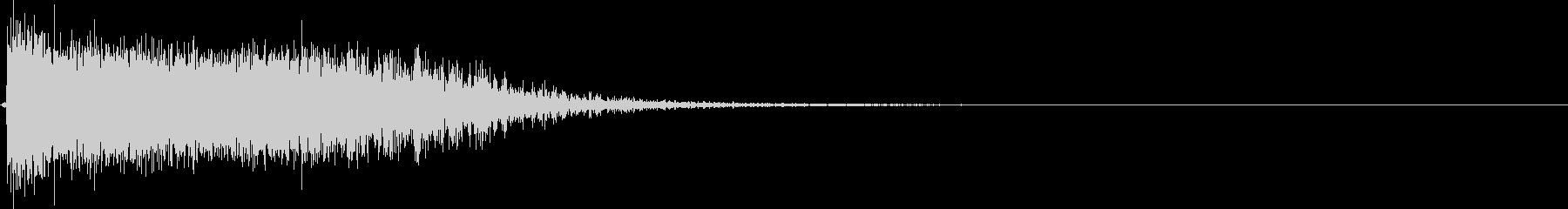 プシュ!炭酸ペットボトルのフタを開ける音の未再生の波形