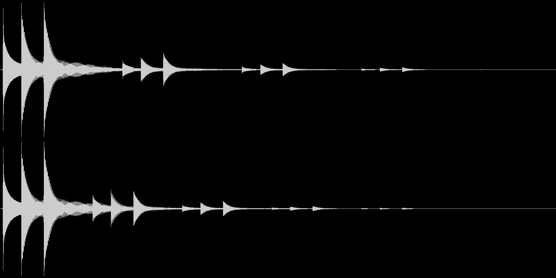 ニュートピック効果音の未再生の波形
