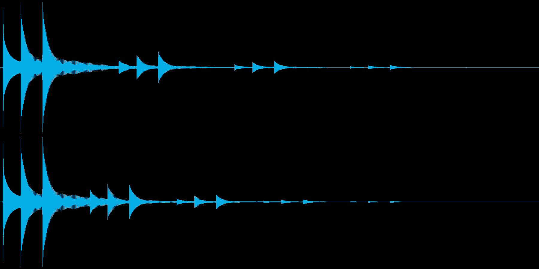 ニュートピック効果音の再生済みの波形