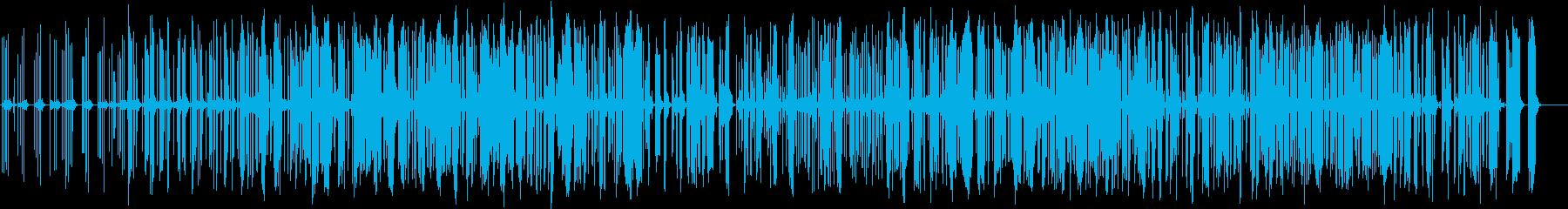 耳に気持ちいいリズムノイズトラックの再生済みの波形