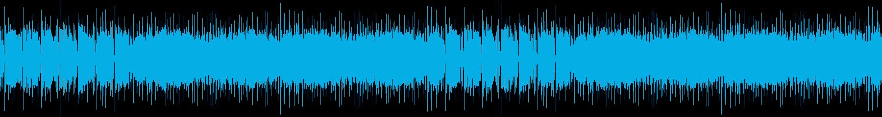 シンセが目立つ都会的BGM※ループ仕様の再生済みの波形
