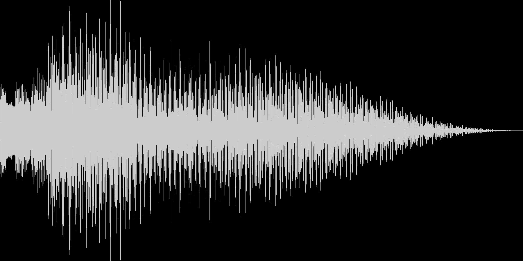 ポロロン(ハープ 下降 アイテム表示)の未再生の波形