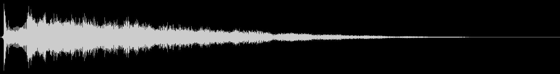サウンドロゴ想定クールなエレキギターの未再生の波形