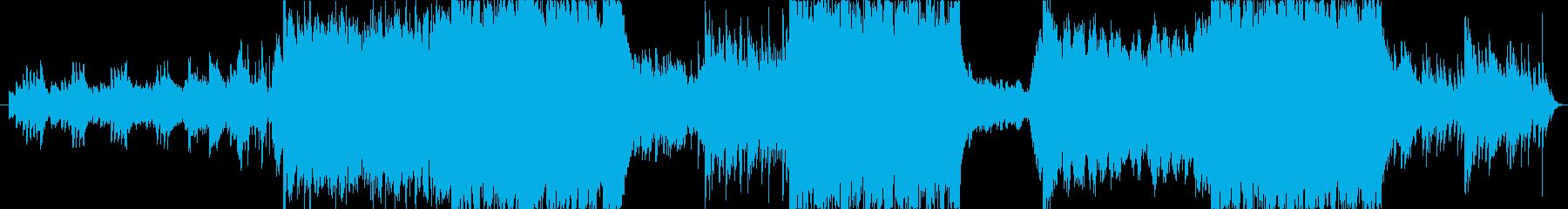 ヴァイオリンの感動的なシネマワルツ楽曲の再生済みの波形