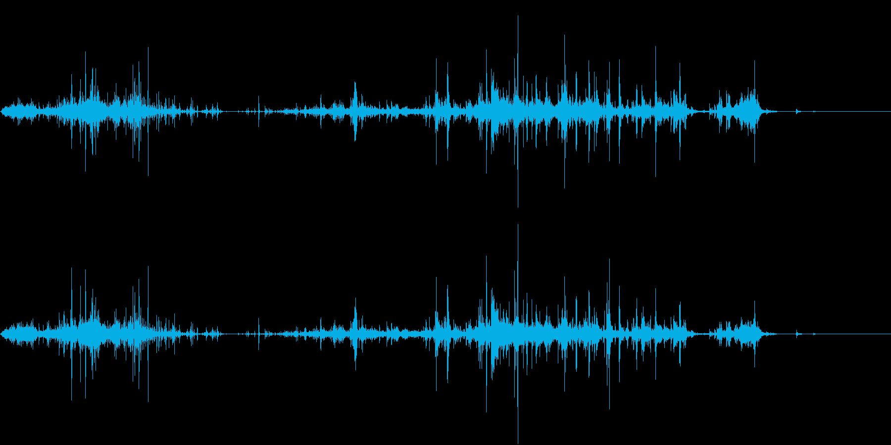 【生録音】ゴミの音 4 握ってばらまくの再生済みの波形