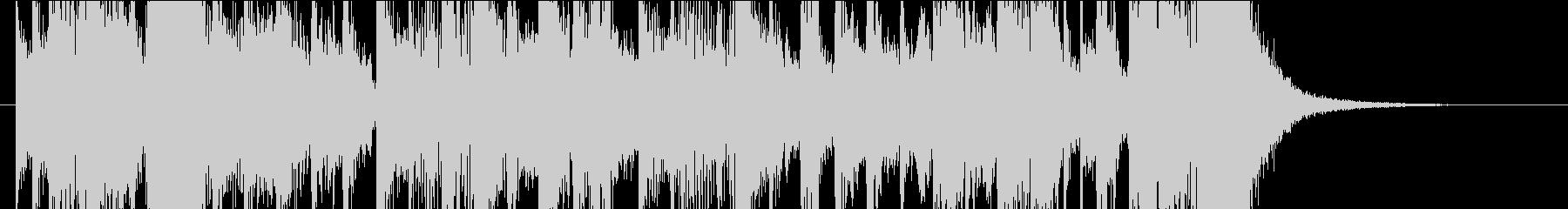 ブラスメインのファンキージングルの未再生の波形