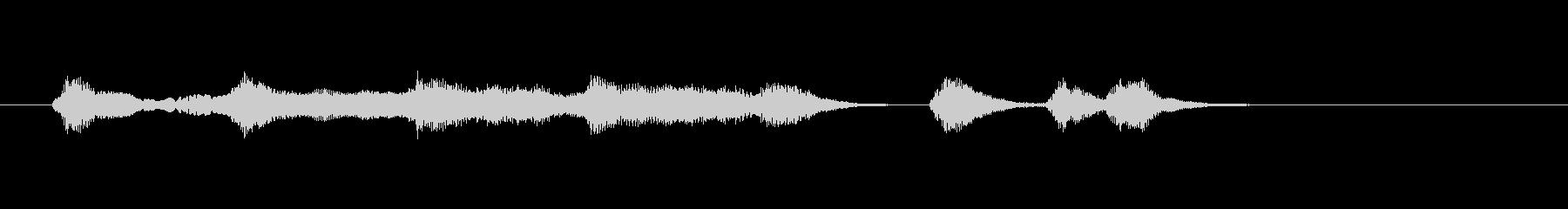アニメで流れるような小規模オーケストラ曲の未再生の波形