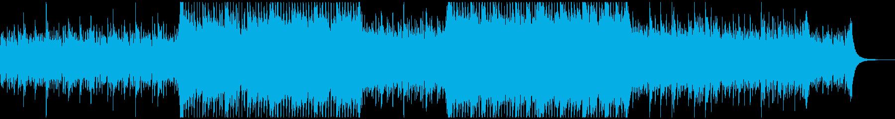 アルペジオとストリングスの上品な4つ打ちの再生済みの波形